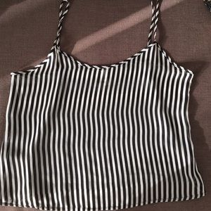 American Apparel Black and White Tank Top